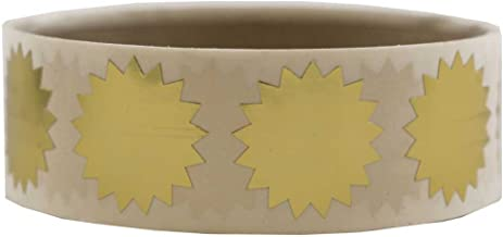 JAM PAPER Circle Label Wafer Seals with Serrated Edges - 3/4 Inch Diameter - Gold - 100 Round Labels/Pack