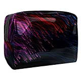 Neceser neceser maquillaje cosmético organizador bolsa de lavado kit bolsa de viaje para hombres y mujeres abstracto Lotus, morado oscuro, 18.5x7.5x13cm/7.3x3x5.1in,