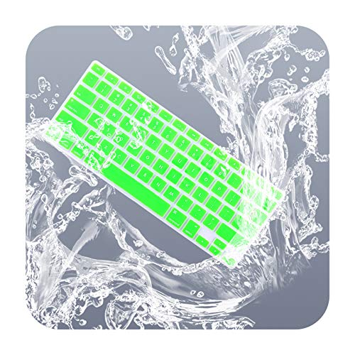 Keyboard Cover Skin Compatible for Macbook 13' Unibody/Old Macbook Pro 13' 15' 17'/Old Macbook Air 13'/iMac Wireless Keyboard-Green