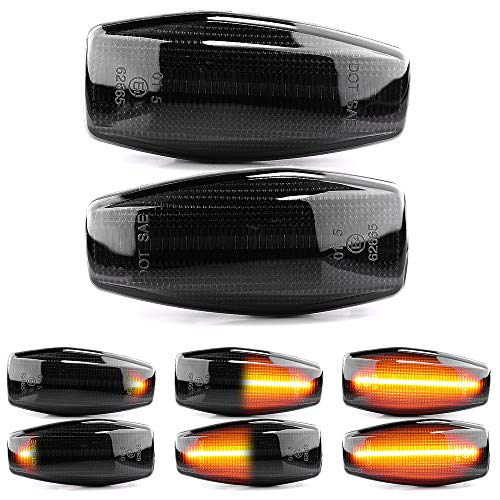 2 X LED Blinker Seitenblinker Blinkleuchte Dynamisch Laufblinker Kotflügel-Blinker Black Vision mit E-Prüfzeichen V-172104LG