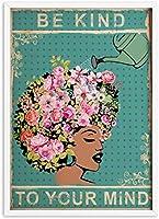 壁のプリント60x80cmフレームなしあなたの心に親切アフリカの女王ミニマリストプリントヴィンテージ絵画ポスター寝室の壁アート家の装飾