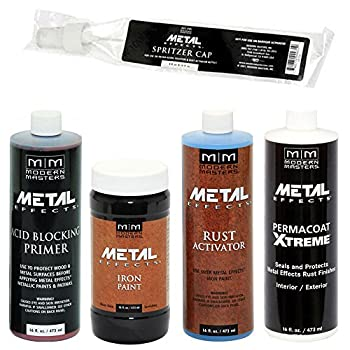 Modern Masters Metal Effects Iron Paint & Rust Activator Kit  16-Ounce
