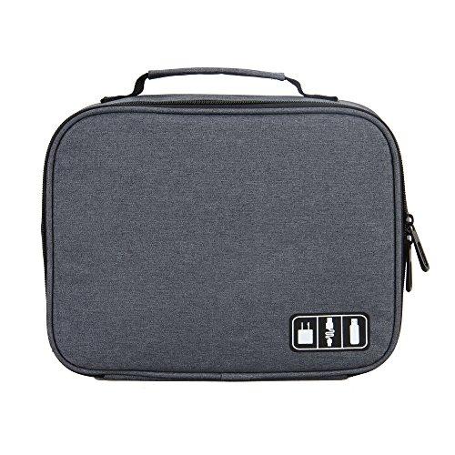 Veevan Accessori Elettronici Portatili dell'Organizzatore di Corsa Carry Case(Grigio)