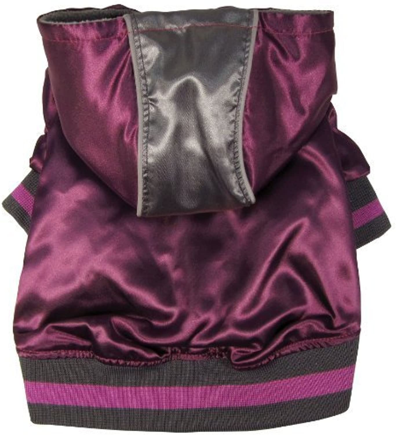 Dogit Style Metallic Dog Hoodie, Small, Purple by Dogit