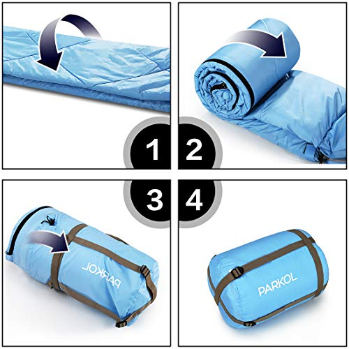 4 Seasons Warm /& Cold Weather Waterproof Lightweight Portable Backpacking PARKOL Sleeping Bag for Adults /& Kids Camping Gear Equipment for Outdoor,Hiking