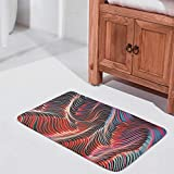 Sheeouis Colored Abstract Stripes Style Welcome Door Mats Washable Non-Skid Entrance Modern Decorative Carpets Floor Mat Cover Floor Rug for Garden Entry White 24x36 inch