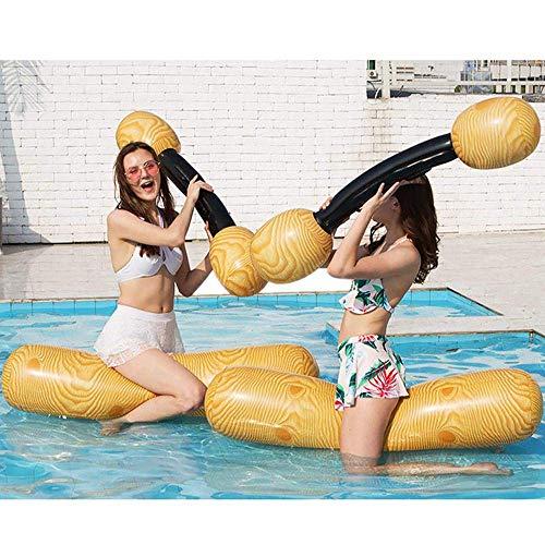 QUETAZHI Aufblasbarer PVC-Schwimmenring aufblasbare Wasserspiele Kanu schwimmende Reihe Hüpfburgen -140cm Adult Swim Ring aufblasbaren Schwimmstuhl - Wasser schwimmender Pool Spielzeug QU617