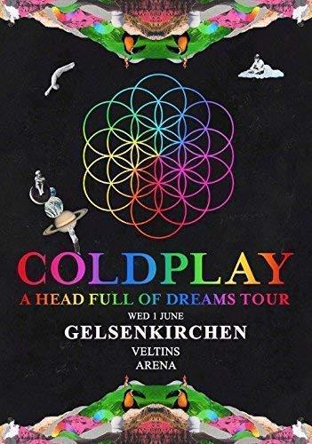 Coldplay Gelsenkirchen Veltins Arena - 1 Juni 2016 Foto Poster Deutschland 21 (A5-A4-A3) - A5