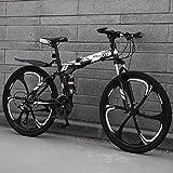 LYhomesick Bicicleta Portátil para Adultos Plegable 24 Pulgadas Marco De Acero De Alto Carbono Adecuado para Montar Al Aire Libre,Blanco,24 * 26''*3