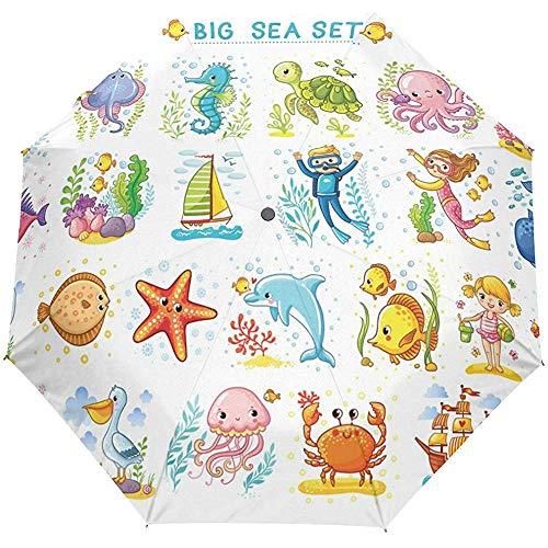 Wassertierseeweltautoabschluß Sun-Regen-Regenschirm