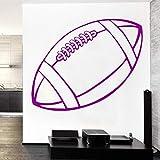 SHYSBV Stickers muraux Vinyle Sticker Mural Rugby Ball Art Peinture Murale Décoration De La Maison Wall Sticker Room Amovible Stickers Muraux 57X32Cm