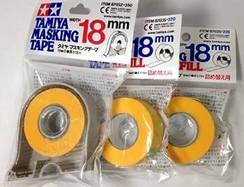TAMIYA 18mm Masking Tape with 2pcs Refill
