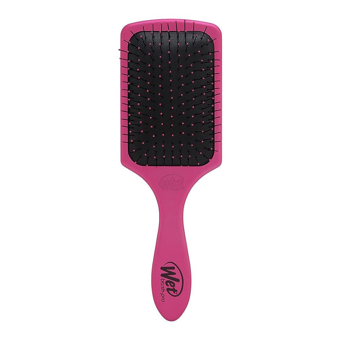 専門行進バックアップTHE WET BRUSH Paddle Brush - Punchy Pink (並行輸入品)