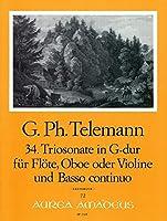 TELEMANN - Trio Sonata en Sol Mayor (TWV:42/g13) para Flauta, Oboe y BC (Partitura/Partes)