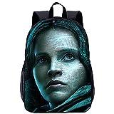 ZFWEI Mochila mujer Rogue One Una historia de Star Wars Mochila para equipaje de mano con compartimento para portátil de 17 pulgadas, mochila de moda en look melange