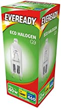 5 x 33w (40w) G9 Halogen Capsule Dimmable Clear Bulb (Eveready S10110)