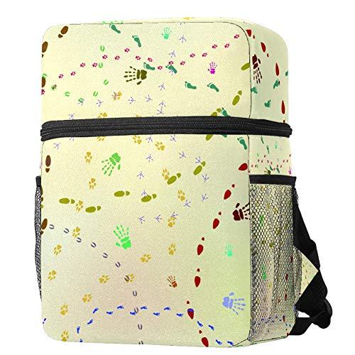 Mochila ligera para niños y niñas, mochila de colegio, informal, con huellas...