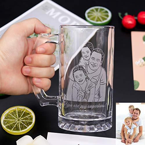 Bicchiere Da Birra Intagliato Personalizzato Bicchiere Da Birra Con Foto Intagliato Personalizzato Bicchiere Da Whisky Con Foto Da Vino Con Foto Intagliato Regalo Personalizzabile Per Lui Lei