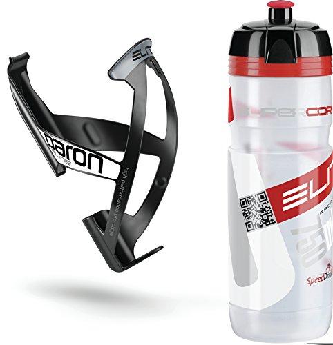 Elite Kit Supercorsa/Paron Trinkflasche & Halter 750 ml Clear-rot/schwarz-weiß 2019 Trinksystem