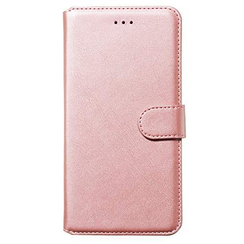 Tosim Galaxy Note 8 Hülle Klappbar Leder, Brieftasche Handyhülle Klapphülle mit Kartenhalter Stossfest Lederhülle für Samsung Galaxy Note8 - TOYYO080247 Rosa Gold
