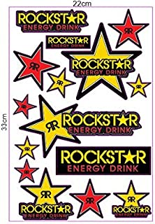 1 Set 15 Aufkleber Rockstar Sticker Autocollant Pegatinas  plus TOPHEADS© Eyewear Sticker  Motocross BMX Auto Car Bike JDM DUB Tuning Racing