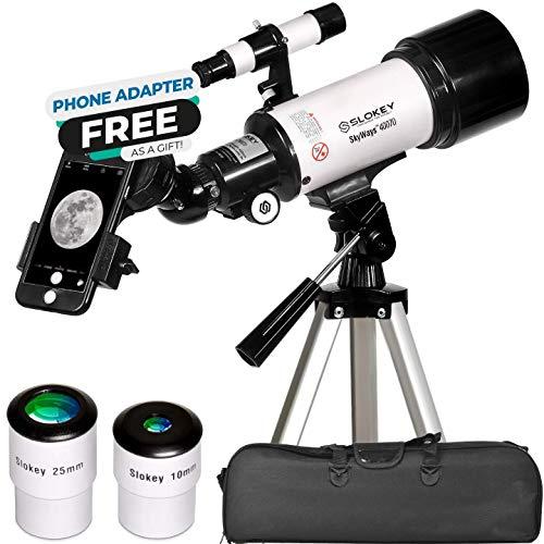 Teleskop Astronomie, Tragbares und Leistungsstarkes 16x-120x, Einfach zu Montieren und zu Verwenden, Ideal für Kinder und Anfänger Erwachsene. Telescope für Mond, Planeten und Sternenbeobachtung