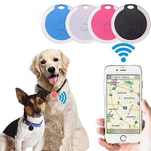 AFXOBO GPS Bluetooth Tracking Device Locator, Mini Round Portable Intelligent Anti-Lost Alarm Device for Luggages/Pets/Kids