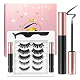 Ceaver Magnetic Eyeliner and Lashes Kit, Magnetic Eyeliner for Magnetic Lashes Set, With 5 Pairs of Reusable Lashes in Different Styles [5 Pairs]