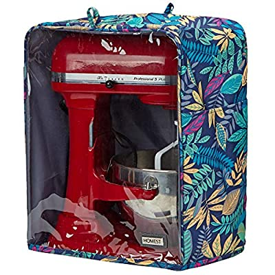 HOMEST Visible Stand Mixer Dust Cover with Pockets Compatible with KitchenAid Bowl Lift 5-8 Quart, Floral (Patent Pending)