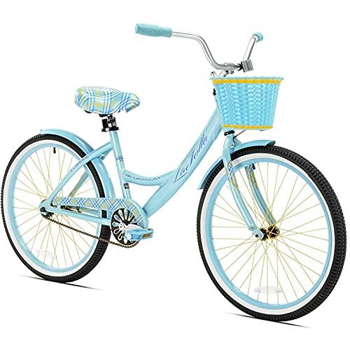 "Kent 24"" Girls', La Jolla Cruiser Bike, Light Blue, For Ages 12 and Up"