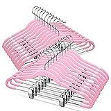 TIMMY Velver Hangers with Clips (20 Pack) Hangers Non Slip Velvet Clothes Hangers,Ultra Th...