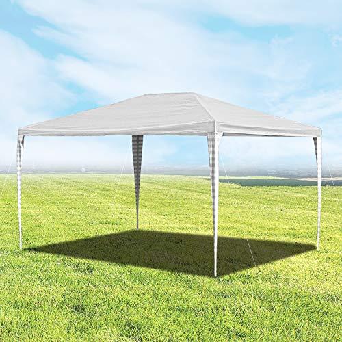 Boeguez Pavillon Wasserdicht 3x4m Gartenpavillon, Stabiles Partyzelt Festzelt Weiß Ohne Seitenteile UV-Schutz für Markt Camping Hochzeiten Festival