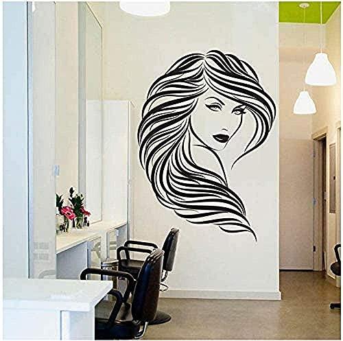 Peluquería, peluquería, pegatina de pared, vinilo desmontable, calcomanía de pared, sala de estar, dormitorio, decoración del hogar, arte interior, Mural