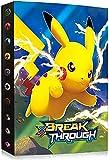 Álbumes Compatible con Cartas Pokemon, Carpeta Compatible con Cartas de Pokémon, Álbum Titular Compatible con Cartas Pokémon, 30 páginas con capacidad para 240 cartas (1-SD-SDQ-PIKAQIU)