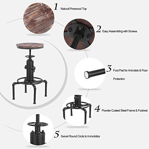 IKAYAA 2X Barhocker Industriedesign - 3