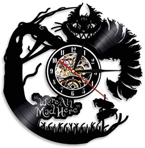 zgfeng Reloj de Pared con Disco de Vinilo Reloj de grabación de animación Hecho a Mano Vintage Reloj de decoración de habitación de niña de película de fantasía