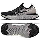 Nike Women's Epic React Flyknit Running Shoe (10, Black/Black-Moon Particle)