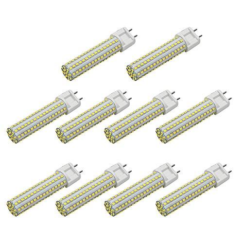 MENGS 10 Stück G12 LED kaltweiss Lampen 15W 1080 Lumen LED Leuchtmittel 6000 Kelvin Kaltweiß, Ersatz 120W Halogenlampen 360 ° Abstrahlwinkel LED-Maislicht, CRI>80, AC 85-265V