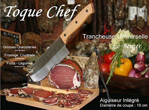 Trancheuse Universelle pour GAUCHER Guillotine à Saucisson Toque Chef By Le Berger AFFUTEUR INTEGRE Spécial Main Gauche