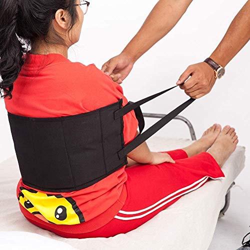 Bed Transfer Nursing Sling, gepolsterter Rutschfester Transfergürtel bietet garantierten, sichereren Transfer von Hebebühnen, Autos, Rollstühlen und Betten (schwarz)