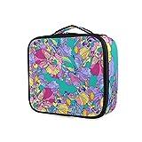 LUPINZ Bolsa de cosméticos de colores irises On Teal Clutch Bolso de maquillaje Organizador de viaje bolsa de aseo para niña