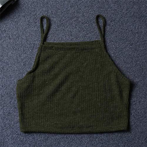 Vrouwen Casual Tank Dames Pure Kleur Tops Vest Blouse Mouwloze Suspenders Crop Tops Singlet Shirt Bralette Sexy Zomer, Zoals Photo Show,L