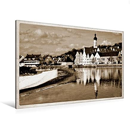Calvendo Landsberg am Lech Fotografie in Stile Cartoline storiche, 120 x 80 cm