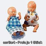 Schwenk Kleinpuppen, 2 Miniatur Püppchen, ca. 5 cm groß, fürs Puppenhaus
