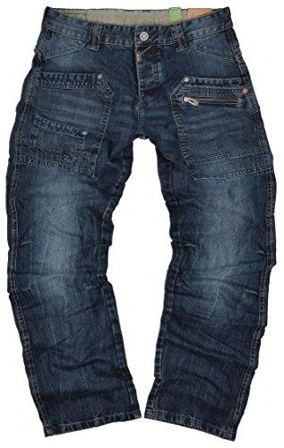 Timezone Herren Jeans Clay 3983 Urban Indigo Wash Cargo Worker (W33/L32)