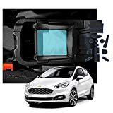 SXCY Alfombrillas de goma para la consola central de Fiesta ST MK8 antideslizantes para el reposabrazos del coche, soporte para bebidas, alfombrilla de almacenamiento accesorios de interior azul