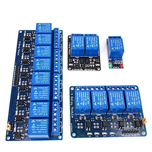 XYHHStor Relé 1 2 4 8 Canales DC 5V módulo de relé con la Junta Nivel optocoupler Baja Disparador de expansión for Arduino Relé electrónico, (Size : 2 channle)
