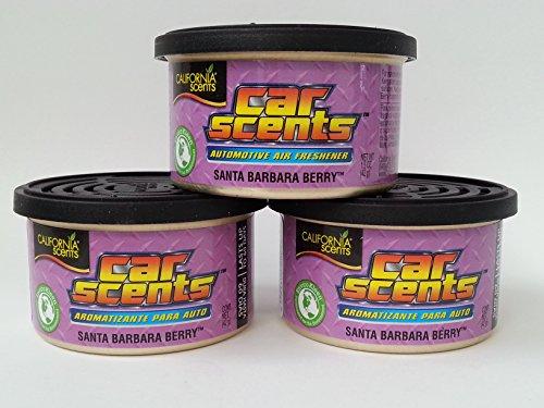 Car Scents California Sents Santa Barbara Berry Lufterfrischer 3er Sparpack - Set