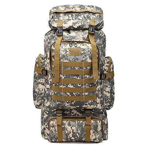WMC Camouflage Camping Sac à Dos randonnée pédestre Voyage Sport Sac à bandoulière Grande capacité d'escalade Voyage Rucksack,A