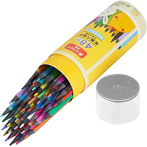 Lápices de colores, bolígrafos de colores de dibujo profesional, una caja de 48 colores, fácil de colorear